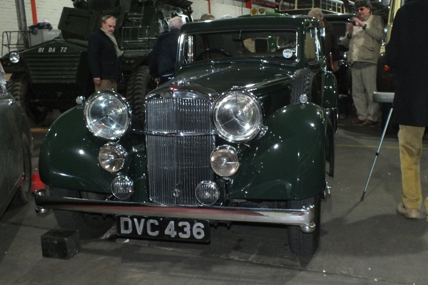14622 The Speed 25SC Charlesworth saloon DVC436 owned by BAe and kept by CTM in the store with 3 other Alvis currently not on display