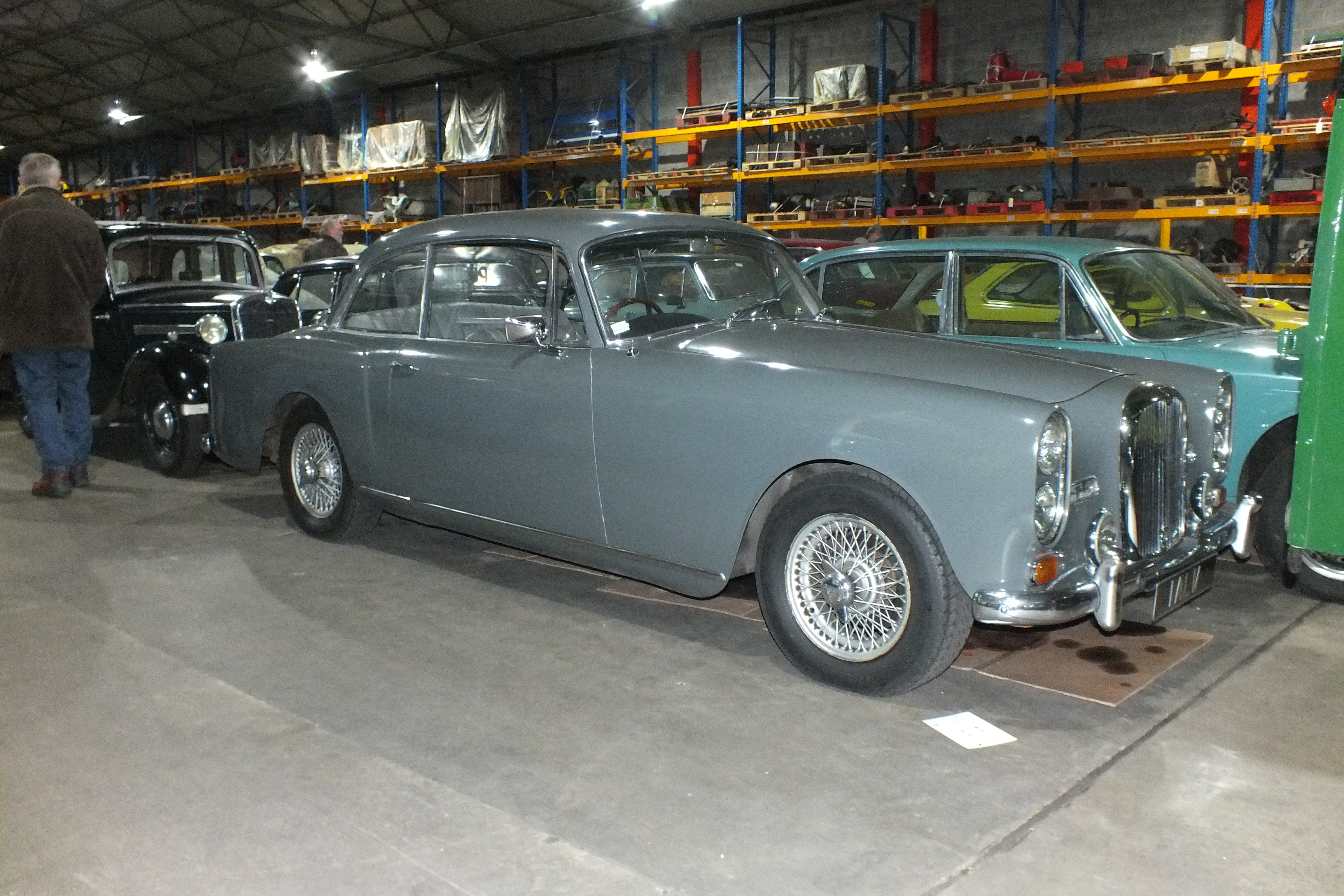 27326 1965 TE21 saloon 1 ALV owned by BAe and stored at CTM. A former Works car with a TF dashboard.