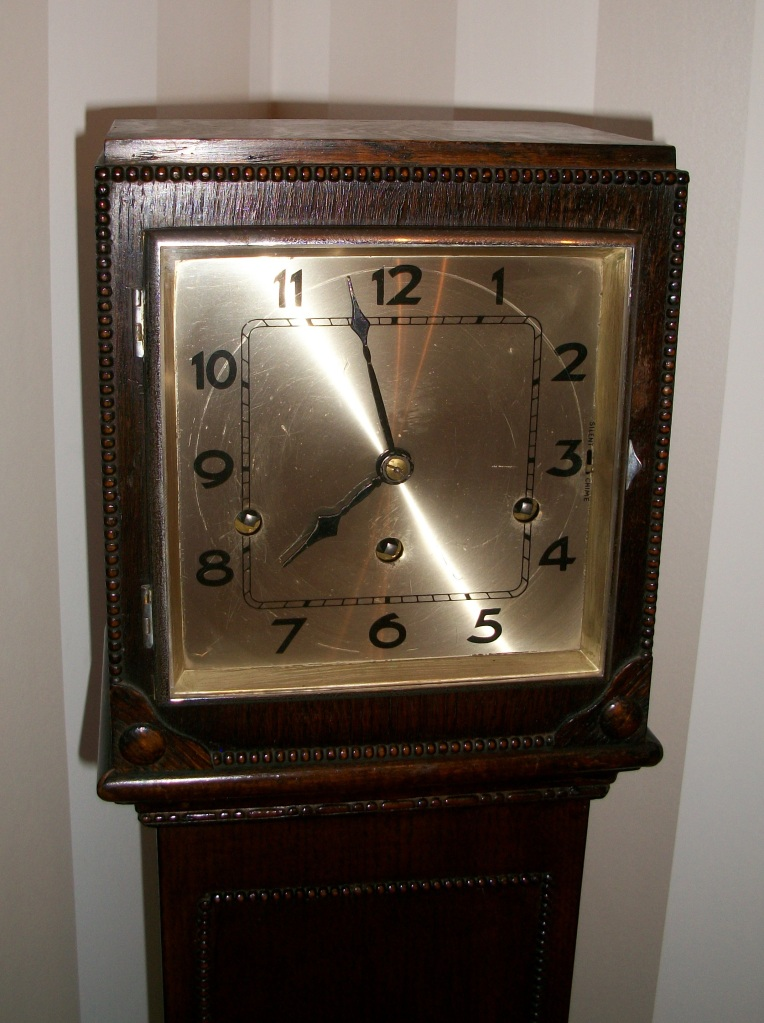 Elizabeth Owen kindly donated this clock presented to her late aunt Miss C Handford by Employees of the Alvis Machine Shop 17 April 1933 on her marriage.