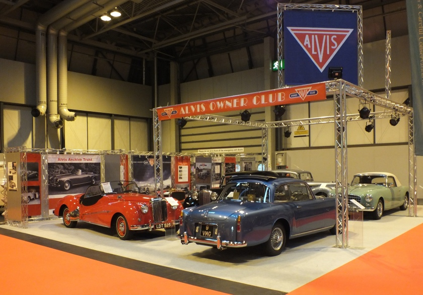 The Alvis stand at the NEC before the crowds arrived on November 15th