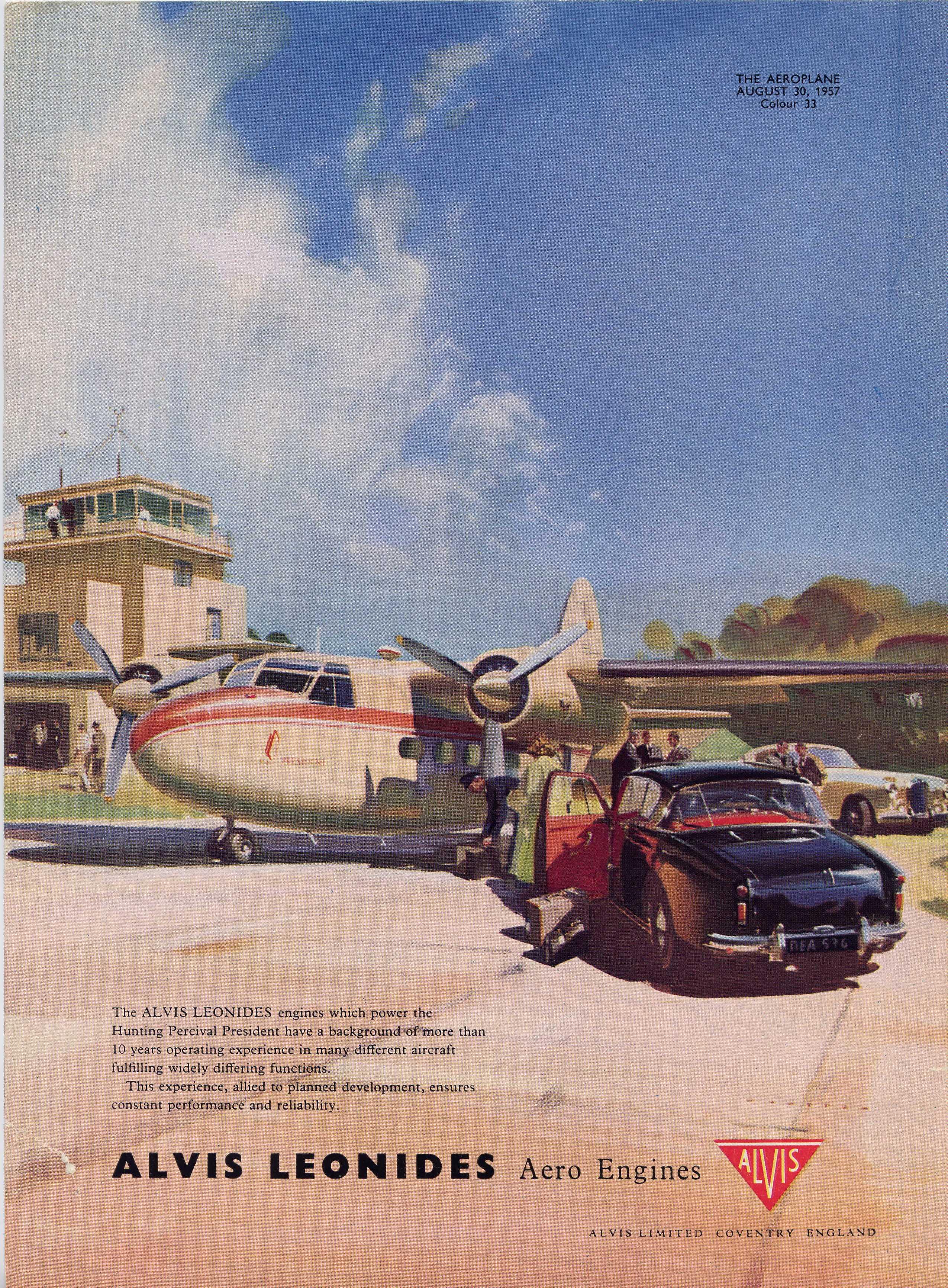 Aeroplane 1957 Leonides ad