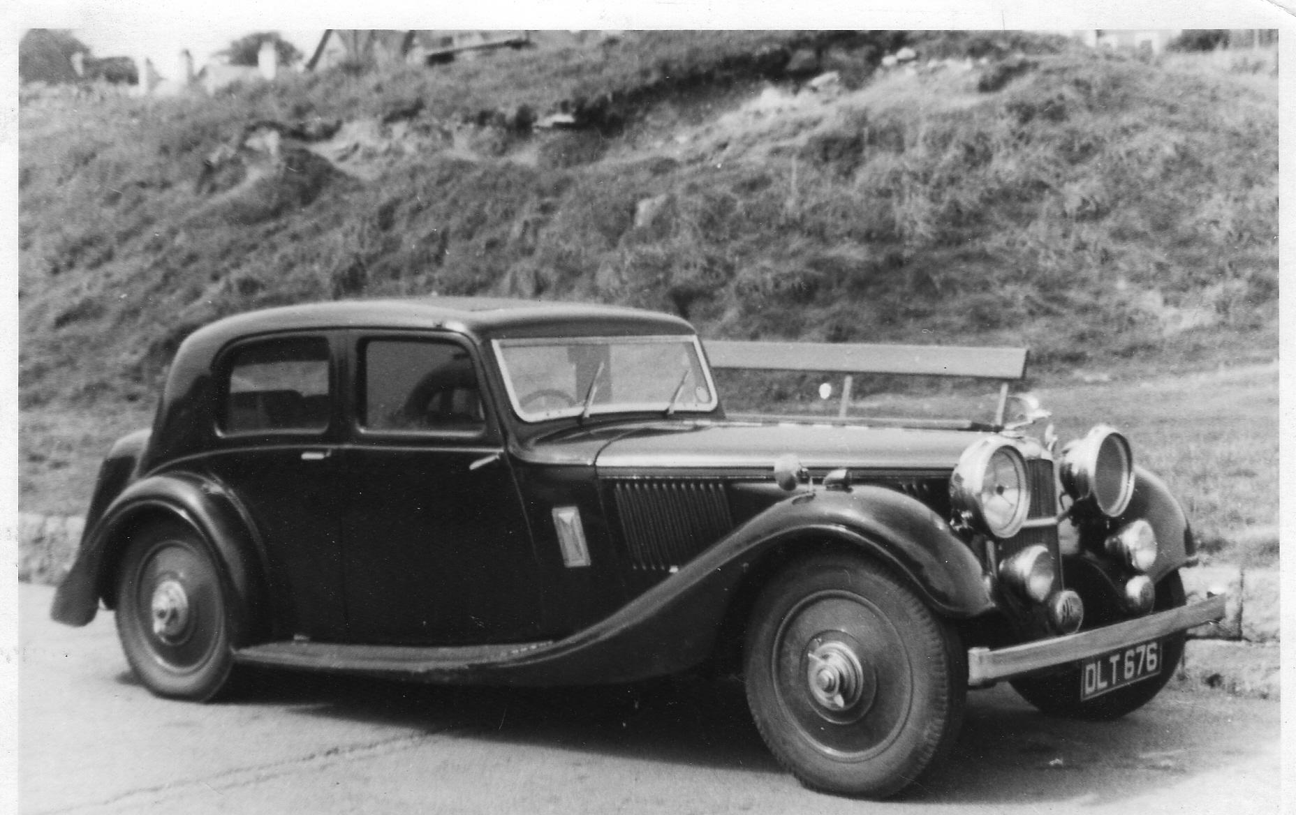 DLT 576 1936 Speed 25 SB Lancefield (all al) extending boot ch13329 car 13609