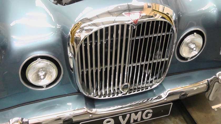 The unique wide grille and larger spot light recesses of the Graber/Park Ward prototype