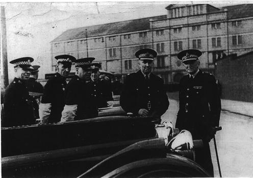 Later than the other CUS photograph and wartime by the headlamp masks, here is seen Chief COnstable Sir Percy Sillitoe, who latrer became head of MI5. Photo Dale Hanley, whose CUS 8 14657 is in this row somewhere