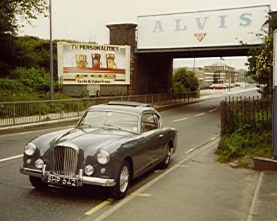 The original Graber 3-litre commissioned by Alvis in 1955 pictured on Holyhead Road Coventry before the factory was demolished and turned in to a supermarket. Willowbrook made replicas in Loughborough for a couple of years before Park Ward took over production that lasted until 1967.