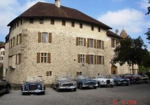 Alvis gather at Schloss Hallwyl in Seengen