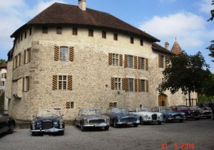 Alvis gather at Schloss Hallwyl in Seengen