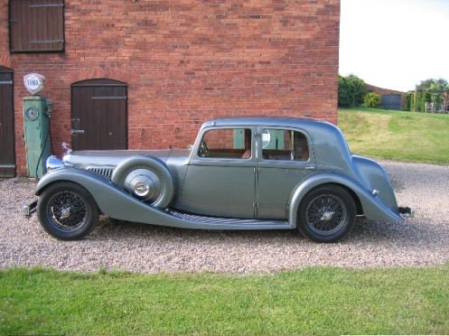 4.3 Litre SB Windovers Saloon 14804, ERW 780, finished in Jewelescence Pearl with Special Red Leather. A one off body ordered by the original owner, John Wormell a roofing contractor of Berkswell, Warwickshire