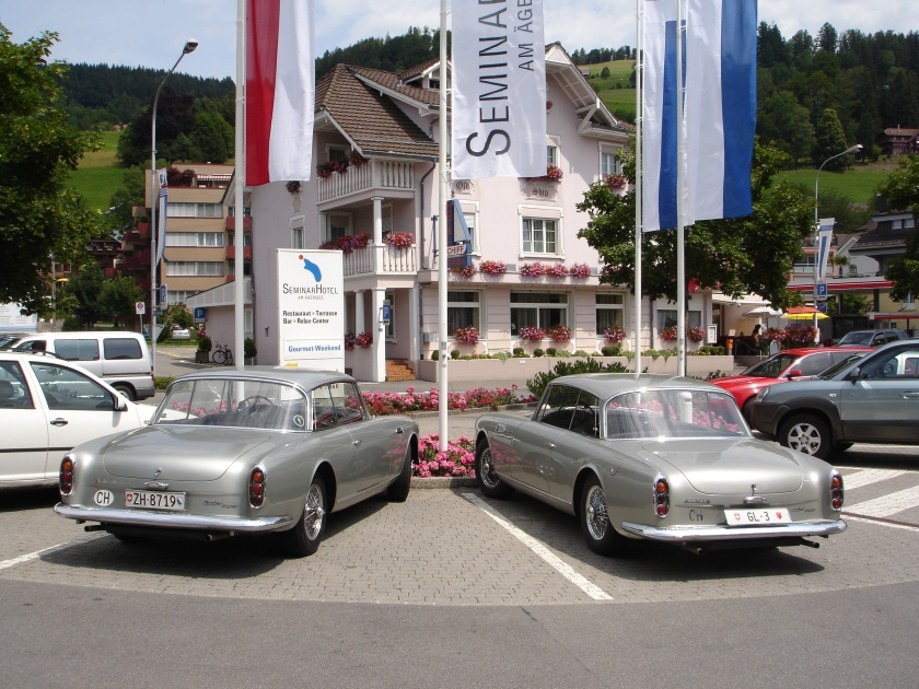 It is very rare to find two identical Graber cars but these two TD21 Series II coupes at the June 2007 Graber Treffen might be the exception.