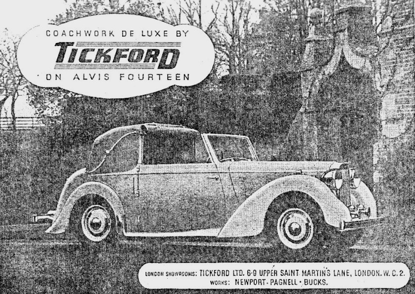 Much of the 14 advertising for the Mulliners uses the word 'Individuality' as the strong message, not so Tickford. This marketing brochure has no such frivolity. What is interesting is that I was told that the nave plate colour should match the interior. It is obvious that for the Tickford it should match the body colour.