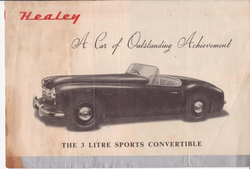 This rare brochure of the Healey G Series was sent in by former long term owner and driving test competitor Jim Oakman.