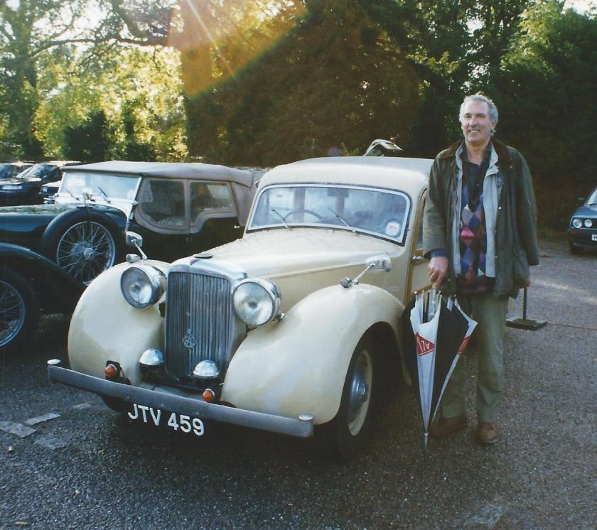 APSLEY, aka Tony Phillips-Smith, with his Jensen woody pictured in 1998.