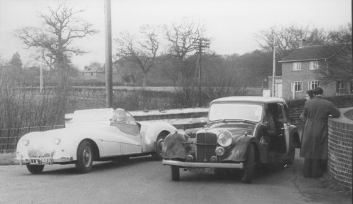1955 Kent Rally 23543, LLK 799, driven by Miss E.J.Chapman who became Mrs E.J.Dowle. 4-27-4