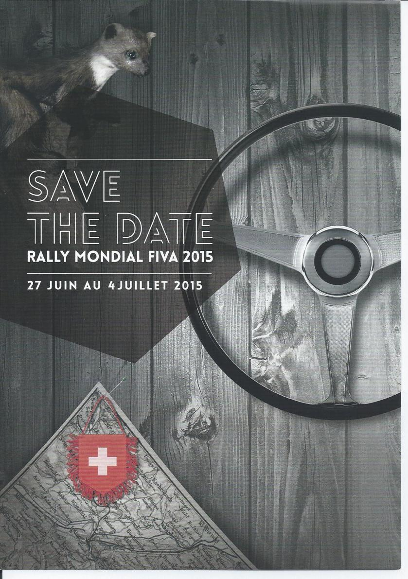 FIVA 2015 rally flyer
