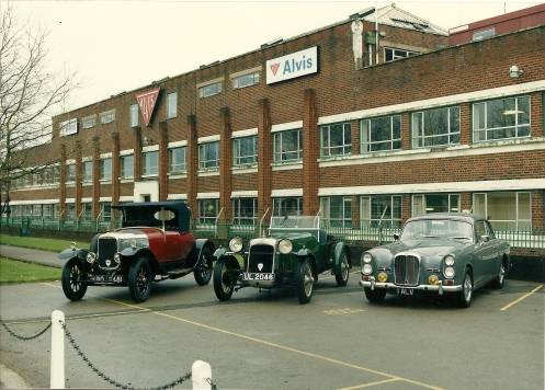 Alvis Factory, May 1991, Tour of Britain, Photo from collection Henk and Agnes van der Weiden