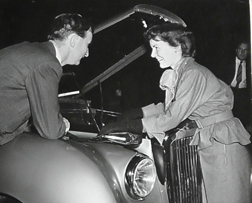 25120 (APM XX1) KYS 921 with Petula Clark at the 1950 Earls Court Motor Show