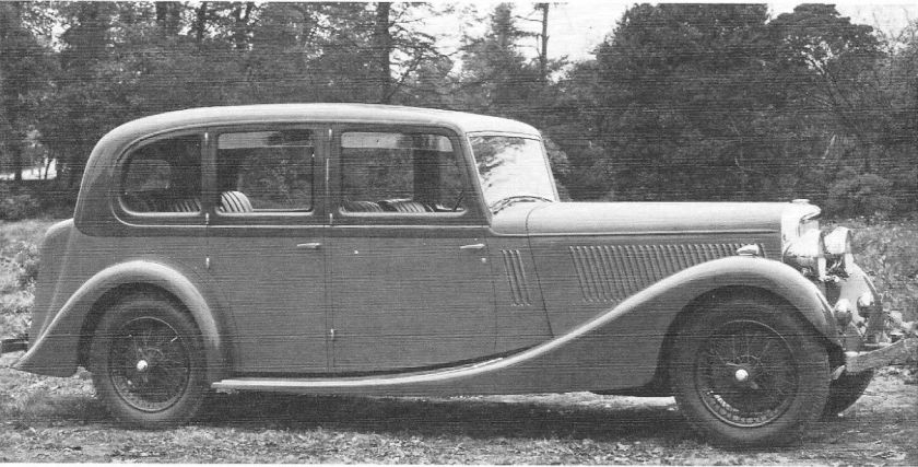 Ch 14542, EGT 56, 1936 one-off Vanden Plas Saloon, TA 25.63.