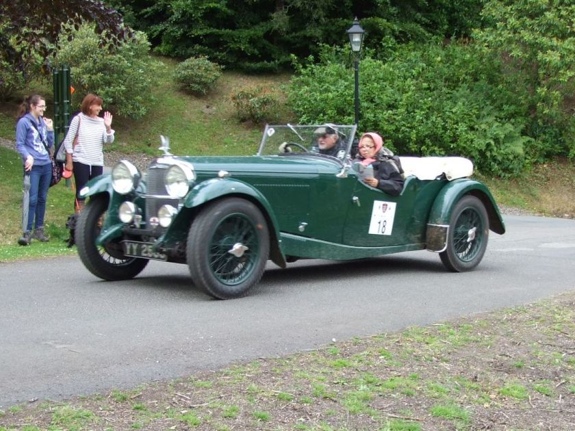 Entry No: 18 – Jose Romao de Sousa and Maria Romao de Sousa at Bowhill in their 1932 Alvis Speed 20 SA on DAY 3. Photo Arthur Fairburn
