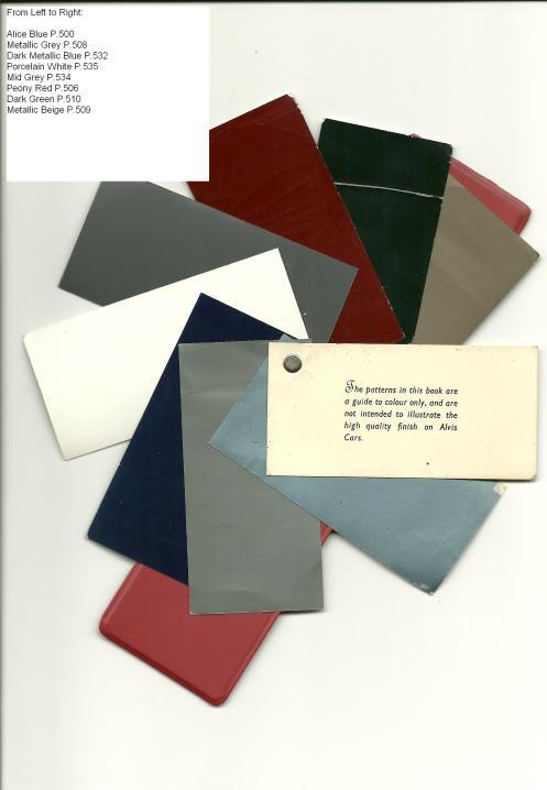 Alvis Park Ward Colour Samples 1