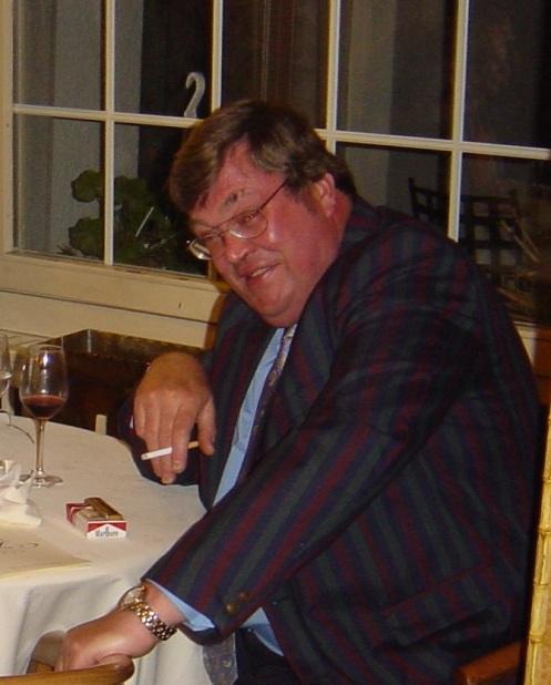 Ken Cameron enjoying the 2005 Swiss Tour