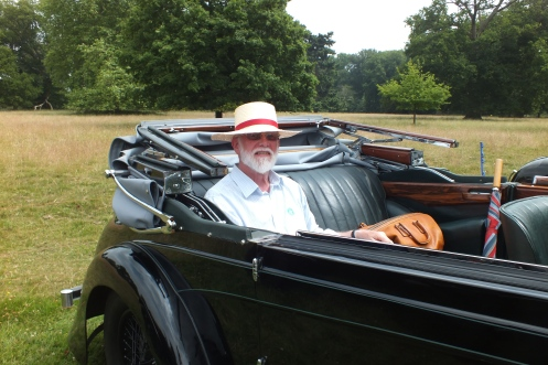 John Oliveira in 2013 at East Anglian Alvis day with CXM 98