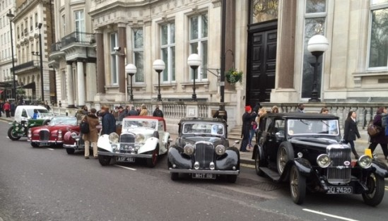 Alvis ready to parade in the London New Year - photo Paul Chasney