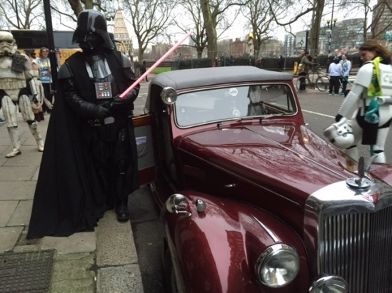 'No I am not an Uber driver and I will not give you a fixed price to a Galaxy far far from here - Sir' [Photo and caption Paul Chasney]