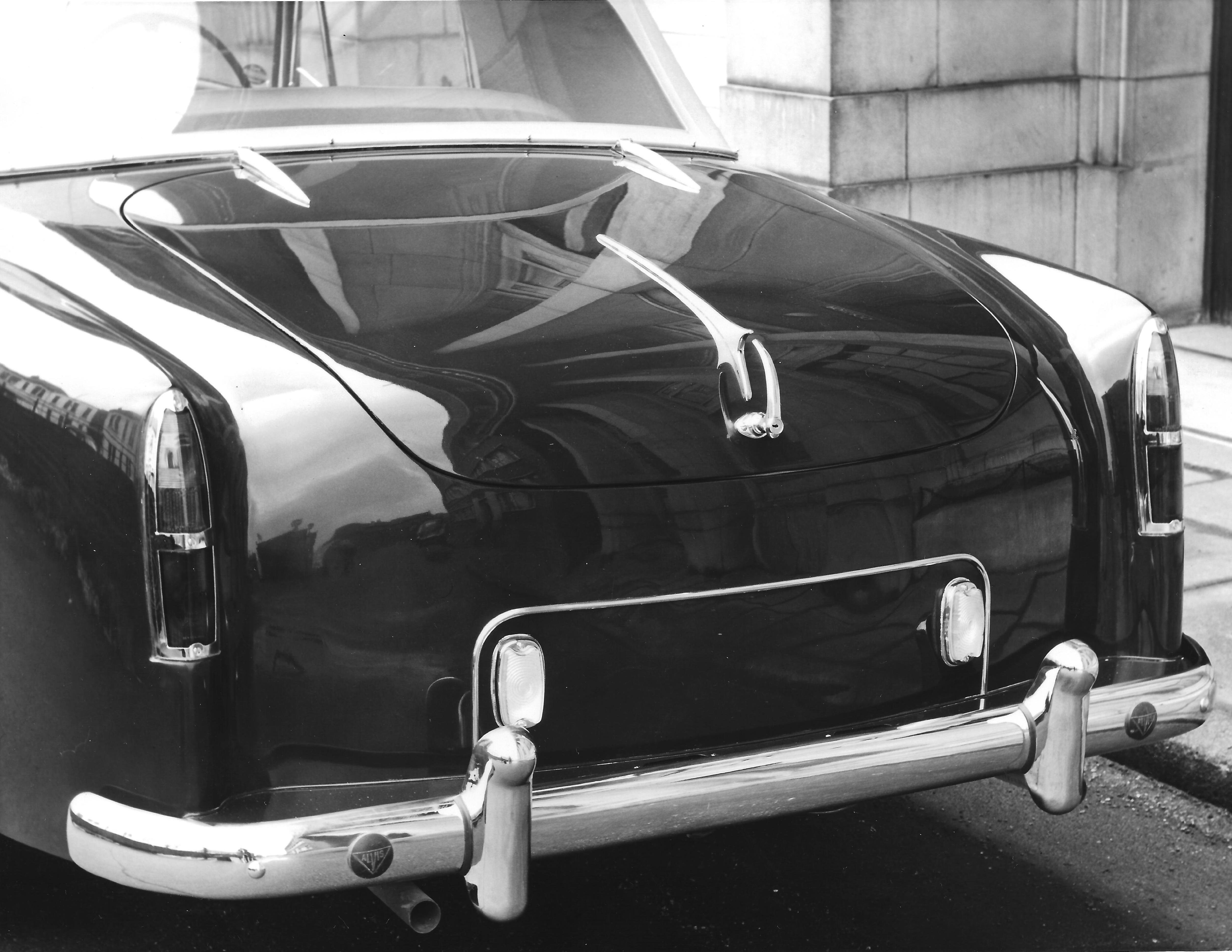The standard rear lights on a Series II TD21