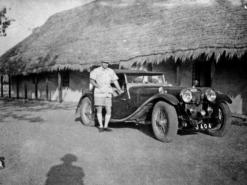 Registered J 404 in Nigeria, note the Frazer Nash Car club badge on the centre of the badge bar.