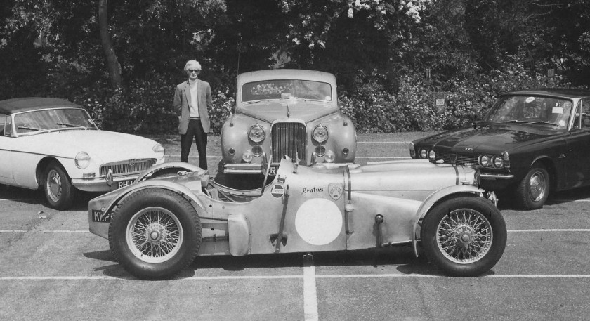 Jim Kennard with his cars from the album in the archives